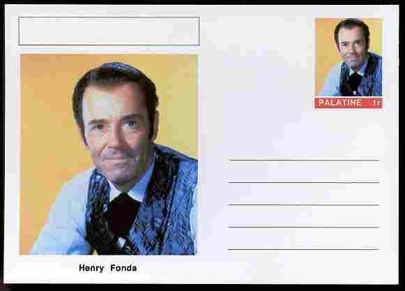 Palatine (Fantasy) Personalities - Henry Fonda (actor) postal stationery card unused and fine