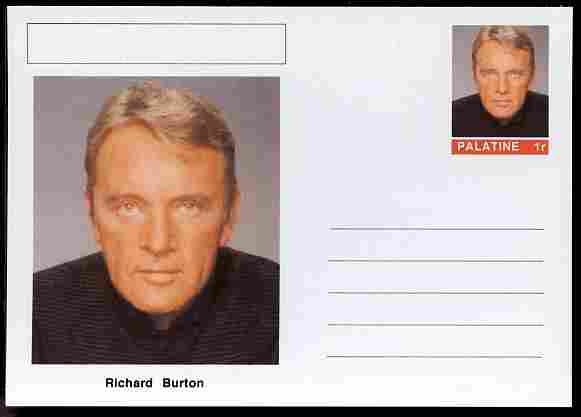 Palatine (Fantasy) Personalities - Richard Burton (actor) postal stationery card unused and fine