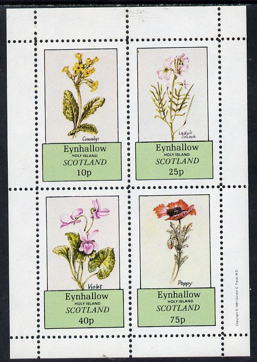 Eynhallow 1981 Flowers #02 (Cowslip, Lady's Smock, violet & Poppy) perf  set of 4 values (10p to 75p) unmounted mint