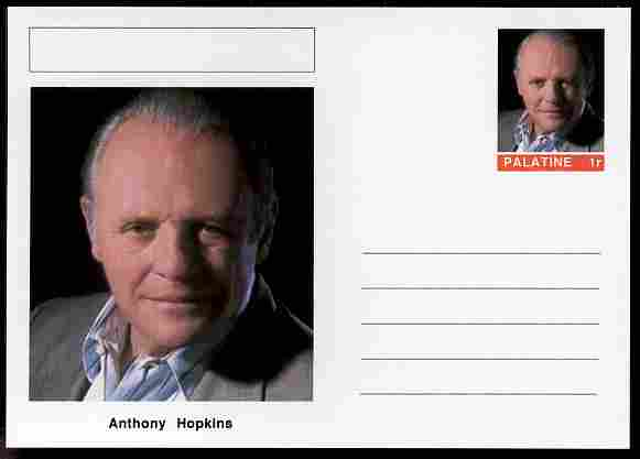 Palatine (Fantasy) Personalities - Anthony Hopkins (actor) postal stationery card unused and fine