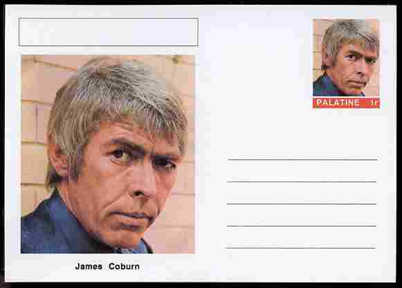 Palatine (Fantasy) Personalities - James Coburn (actor) postal stationery card unused and fine