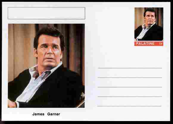Palatine (Fantasy) Personalities - James Garner (actor) postal stationery card unused and fine