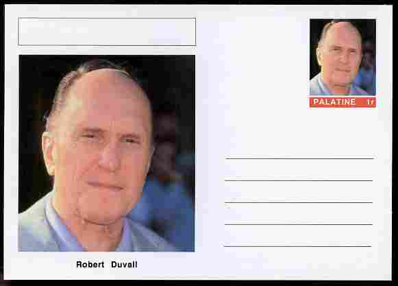 Palatine (Fantasy) Personalities - Robert Duvall (actor) postal stationery card unused and fine