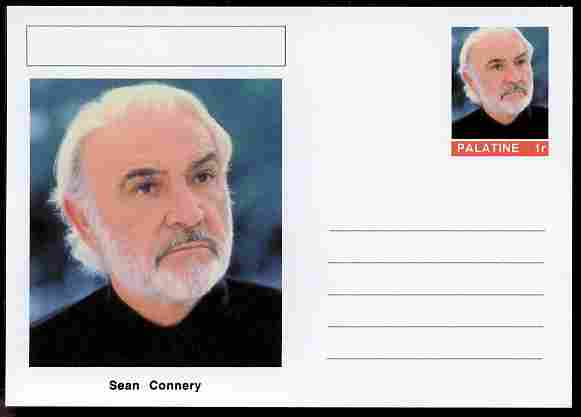 Palatine (Fantasy) Personalities - Sean Connery (actor) postal stationery card unused and fine