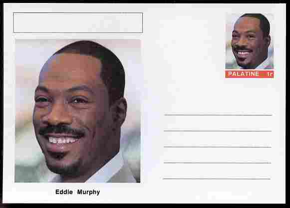 Palatine (Fantasy) Personalities - Eddie Murphy (comic actor) postal stationery card unused and fine