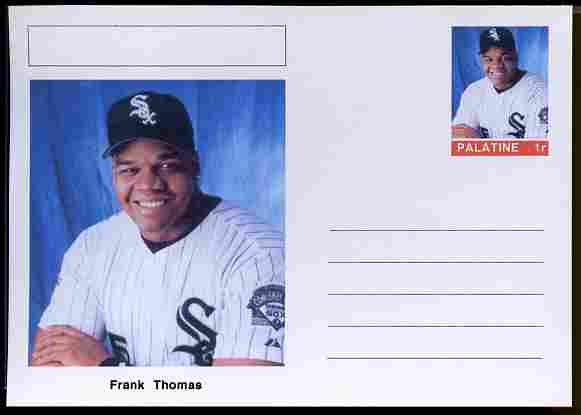 Palatine (Fantasy) Personalities - Frank Thomas (baseball) postal stationery card unused and fine