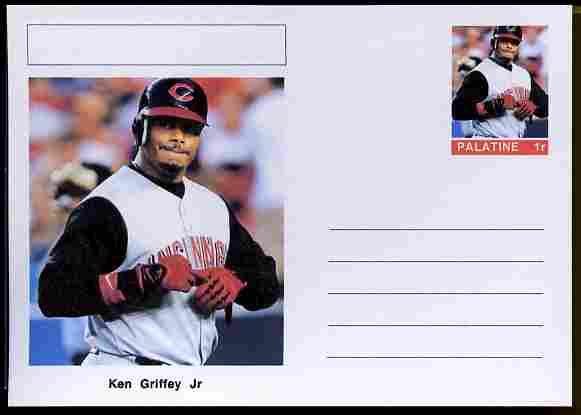 Palatine (Fantasy) Personalities - Ken Griffey Jr (baseball) postal stationery card unused and fine