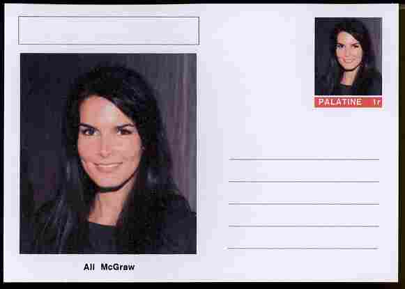 Palatine (Fantasy) Personalities - Ali McGraw (actress) postal stationery card unused and fine
