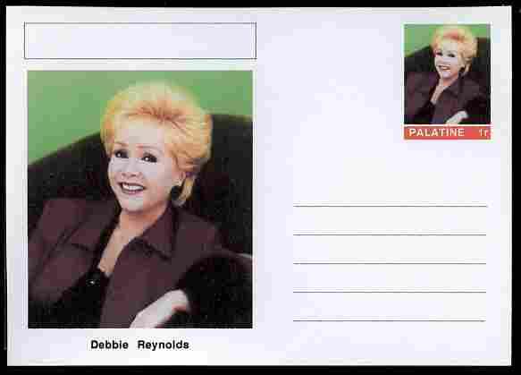 Palatine (Fantasy) Personalities - Debbie Reynolds (actress) postal stationery card unused and fine