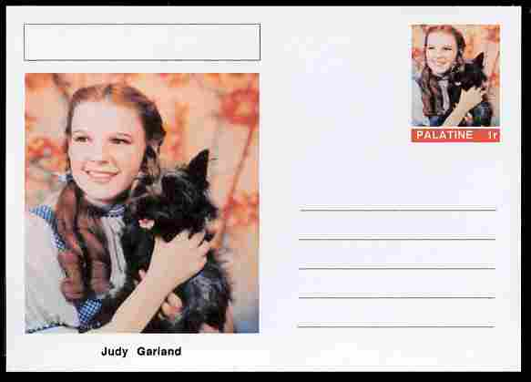 Palatine (Fantasy) Personalities - Judy Garland (actress) postal stationery card unused and fine