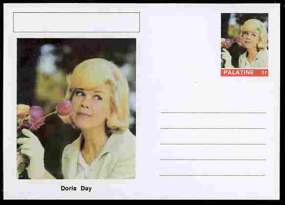 Palatine (Fantasy) Personalities - Doris Day (actress) postal stationery card unused and fine