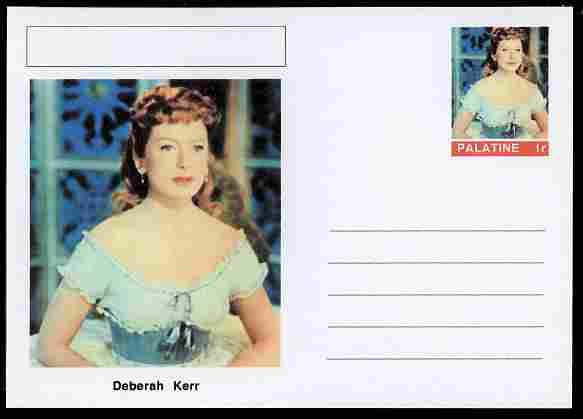 Palatine (Fantasy) Personalities - Deberah Kerr (actress) postal stationery card unused and fine