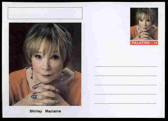 Palatine (Fantasy) Personalities - Shirley Maclaine (actress) postal stationery card unused and fine