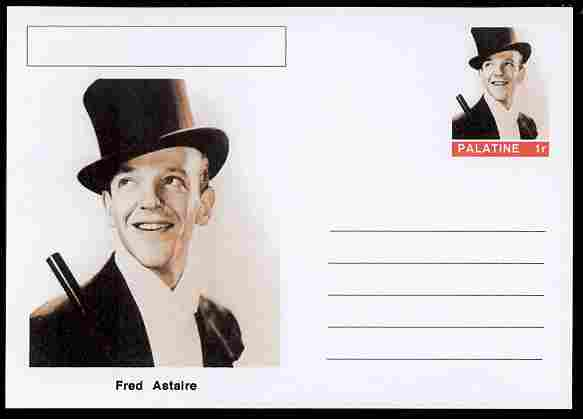 Palatine (Fantasy) Personalities - Fred Astaire (actor) postal stationery card unused and fine