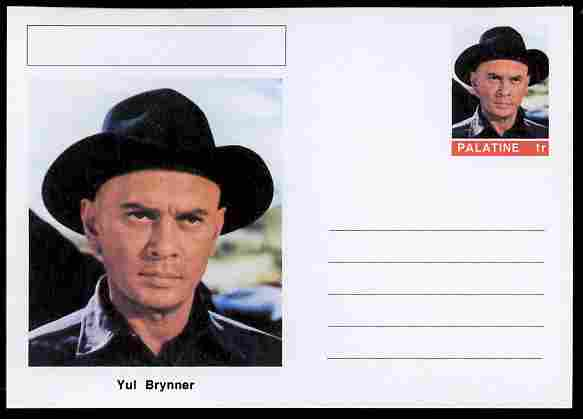 Palatine (Fantasy) Personalities - Yul Brynner (actor) postal stationery card unused and fine