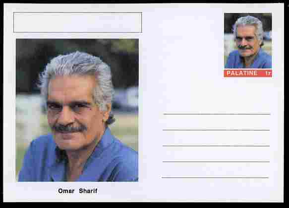 Palatine (Fantasy) Personalities - Omar Sharif (actor) postal stationery card unused and fine
