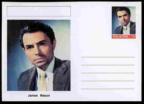 Palatine (Fantasy) Personalities - James Mason (actor) postal stationery card unused and fine