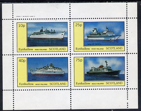 Eynhallow 1982 Ships (Victoria, Song of Norway, Atlas & Monarch Sun) perf  set of 4 values (10p to 75p) unmounted mint