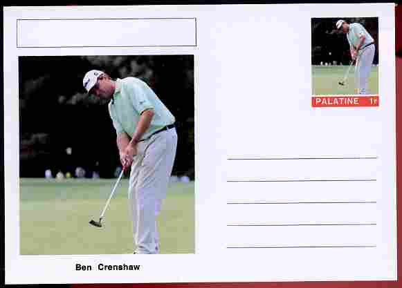 Palatine (Fantasy) Personalities - Ben Crenshaw (golf) postal stationery card unused and fine