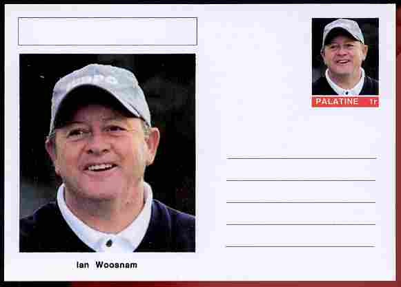 Palatine (Fantasy) Personalities - Ian Woosnam (golf) postal stationery card unused and fine