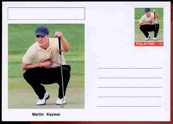 Palatine (Fantasy) Personalities - Martin Kaymer (golf) postal stationery card unused and fine