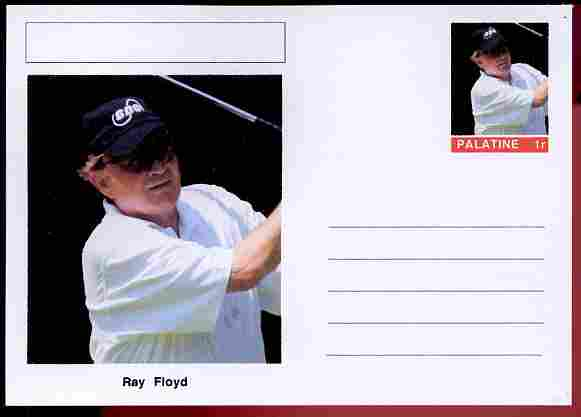 Palatine (Fantasy) Personalities - Ray Floyd (golf) postal stationery card unused and fine