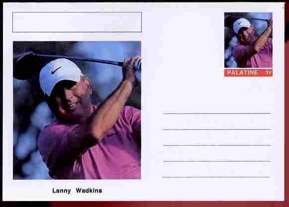 Palatine (Fantasy) Personalities - Lanny Wadkins (golf) postal stationery card unused and fine