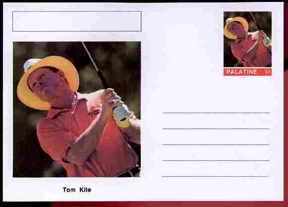 Palatine (Fantasy) Personalities - Tom Kite (golf) postal stationery card unused and fine