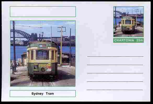 Chartonia (Fantasy) Buses & Trams - Sydney Tram postal stationery card unused and fine