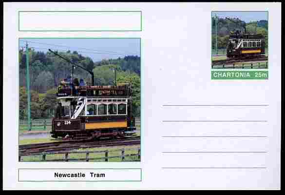 Chartonia (Fantasy) Buses & Trams - Newcastle Tram postal stationery card unused and fine