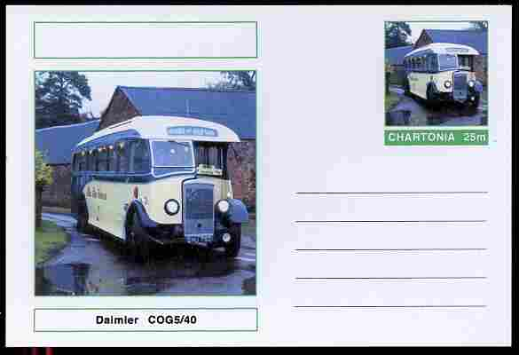 Chartonia (Fantasy) Buses & Trams - Daimler COG5/40 postal stationery card unused and fine