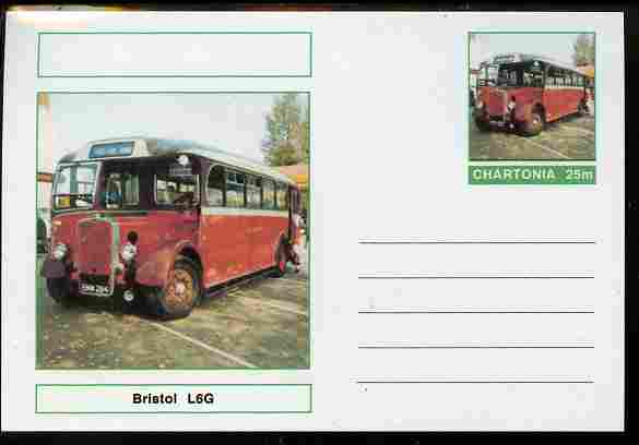 Chartonia (Fantasy) Buses & Trams - Bristol L6G Bus postal stationery card unused and fine