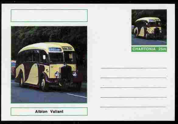 Chartonia (Fantasy) Buses & Trams - Albion Valiant postal stationery card unused and fine