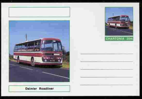 Chartonia (Fantasy) Buses & Trams - Daimler Roadliner Coach postal stationery card unused and fine