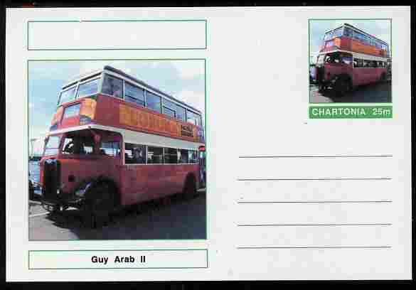Chartonia (Fantasy) Buses & Trams - Guy Arab II Bus postal stationery card unused and fine