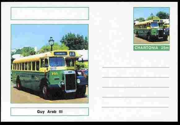 Chartonia (Fantasy) Buses & Trams - Guy Arab III Bus postal stationery card unused and fine