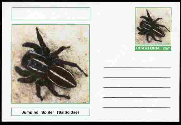Chartonia (Fantasy) Aracnids - Jumping Spider (Salticidae) postal stationery card unused and fine