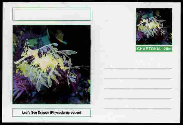Chartonia (Fantasy) Fish - Leafy Sea Dragon (Phycodurus eques) postal stationery card unused and fine