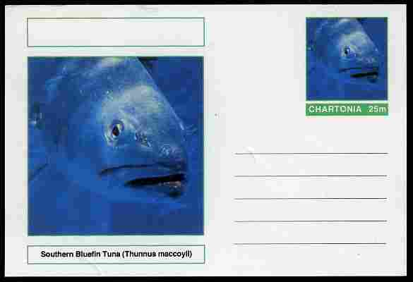 Chartonia (Fantasy) Fish - Southern Bluefin Tuna (Thunnus maccoyii) postal stationery card unused and fine