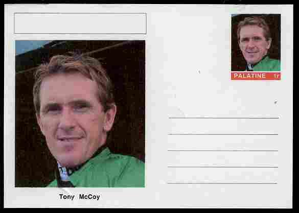 Palatine (Fantasy) Personalities - Tony McCoy (jockey) postal stationery card unused and fine