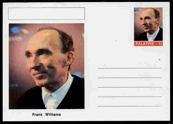 Palatine (Fantasy) Personalities - Frank Williams (FI) postal stationery card unused and fine