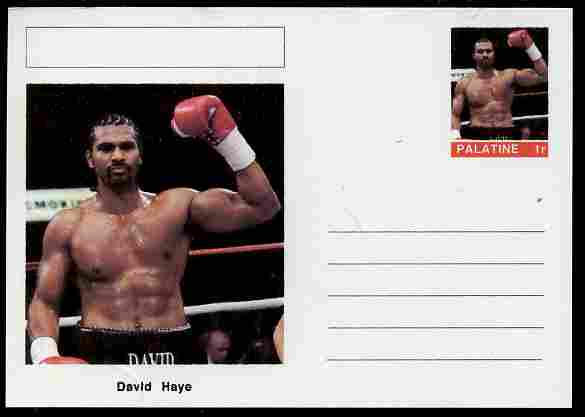 Palatine (Fantasy) Personalities - David Haye (Boxing) postal stationery card unused and fine