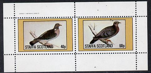 Staffa 1982 Pigeons #03 perf  set of 2 values (40p & 60p) unmounted mint