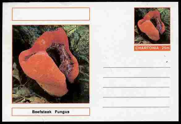Chartonia (Fantasy) Fungi - Beefsteak Fungus postal stationery card unused and fine