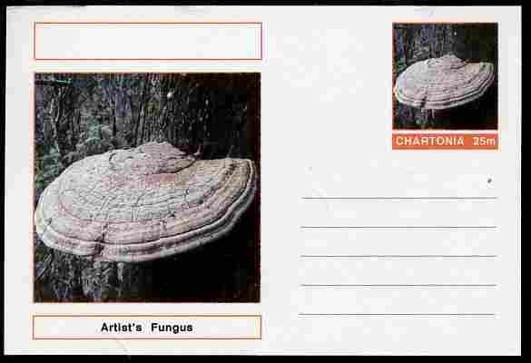 Chartonia (Fantasy) Fungi - Artist's Fungus postal stationery card unused and fine