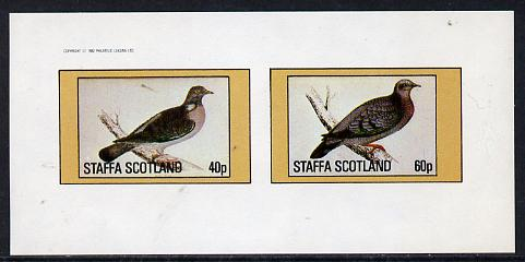 Staffa 1982 Pigeons #03 imperf  set of 2 values (40p & 60p) unmounted mint
