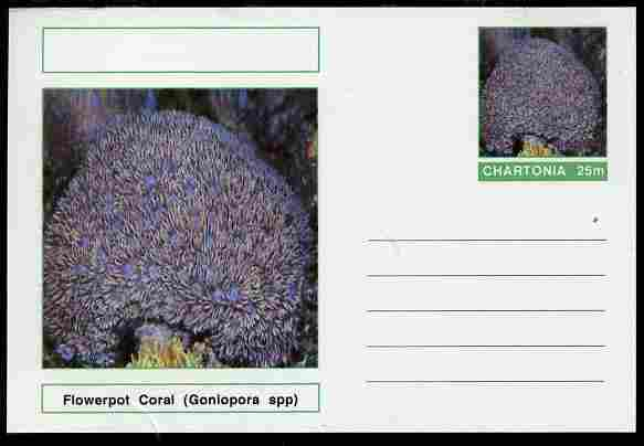 Chartonia (Fantasy) Coral - Flowerpot Coral (Goniopora spp) postal stationery card unused and fine