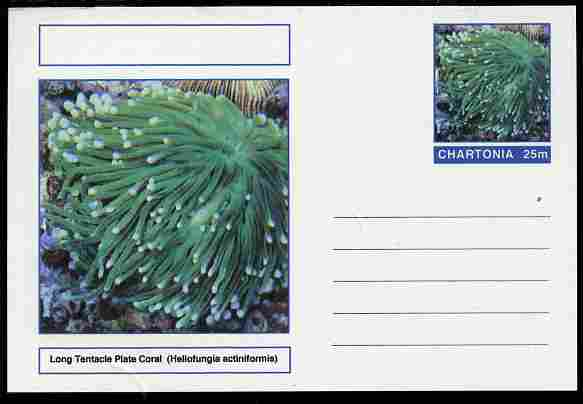 Chartonia (Fantasy) Coral - Long Tentacle Plate Coral (Heliofungia actiniformis) postal stationery card unused and fine