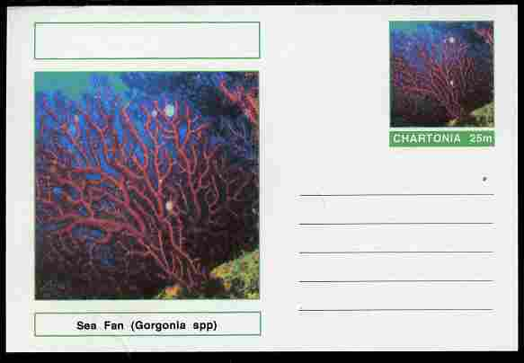 Chartonia (Fantasy) Coral - Sea Fan (Gorgonia spp) postal stationery card unused and fine