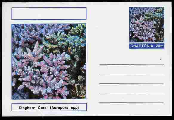Chartonia (Fantasy) Coral - Staghorn Coral (Acropora spp) postal stationery card unused and fine